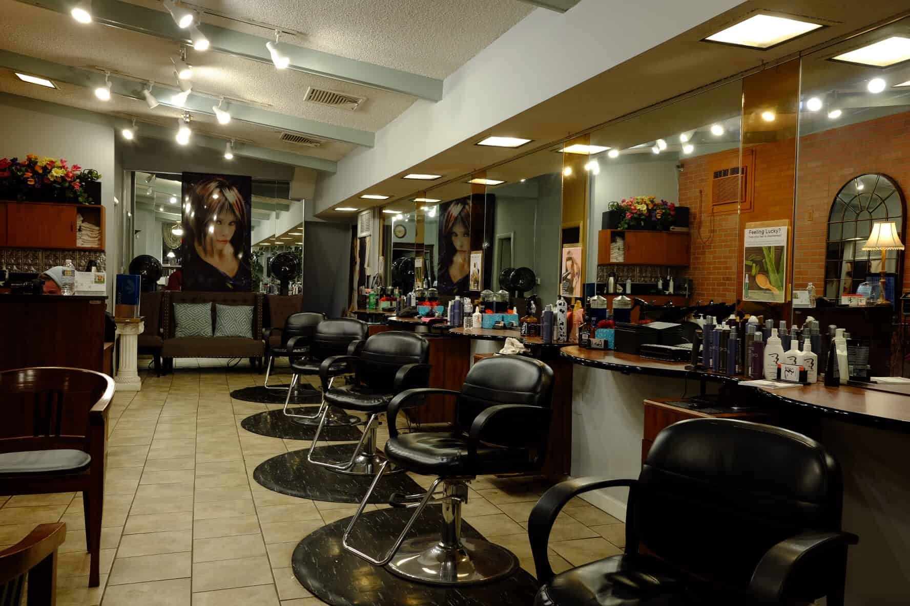 interior of hair salon in south philadelphia pa