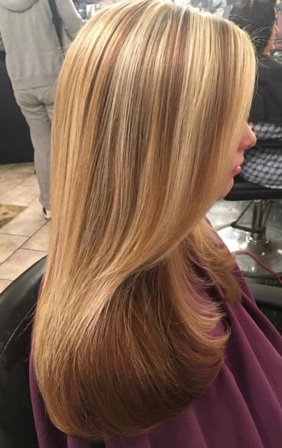 long straightened hair at south philly salon